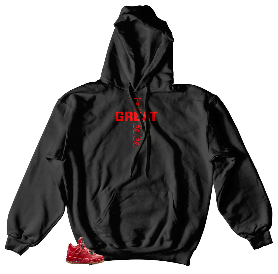 Jordan 4 singles day shoes match Hoody | Fired red 4 hoody match sneakers