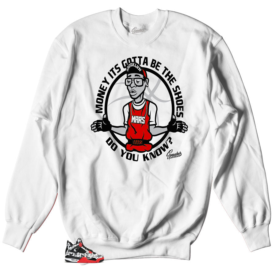 Jordan 4 tattoo sweaters match retro 4 sneaker fire red.