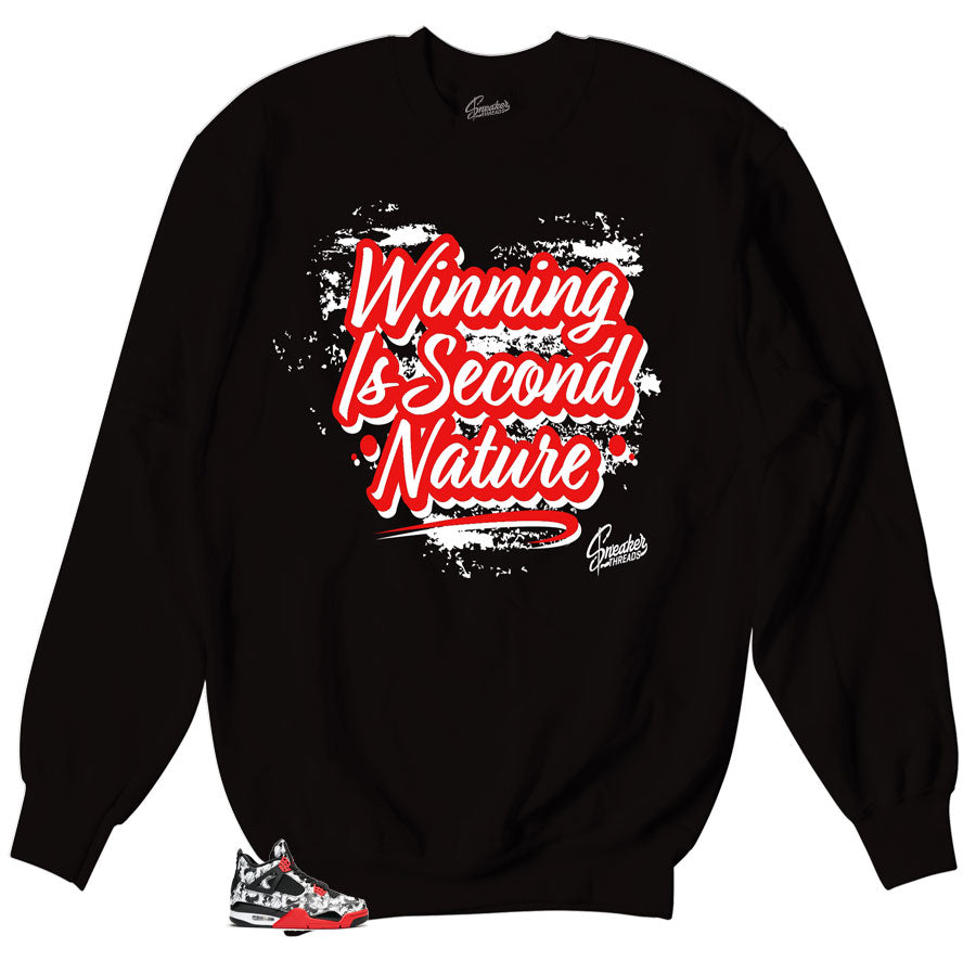 Jordan 4 Tattoo Sneaker matching crewneck sweater designed to match Jordan 4 Sneakers