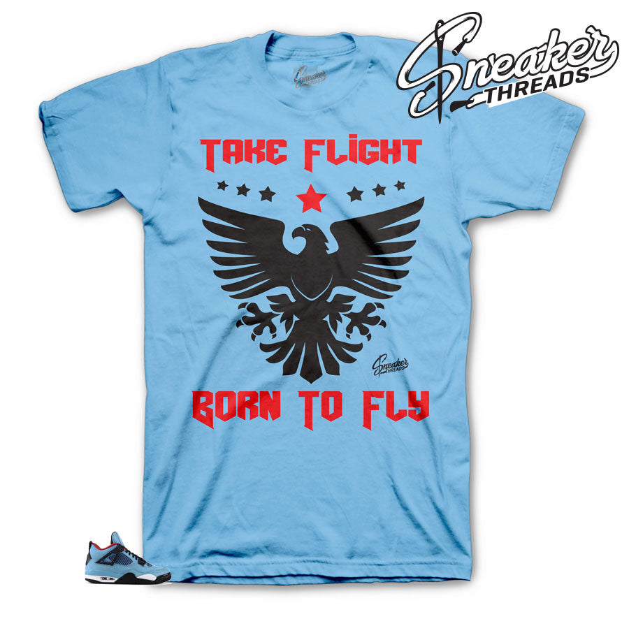 Jordan 4 Cactus Jack Born To Fly Shirt