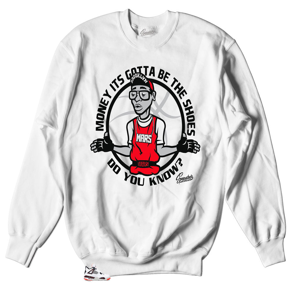 1991d51c09c Jordan 4 Retro Bright Crimson sneaker matching sweater created to match  retro Jordan 4s
