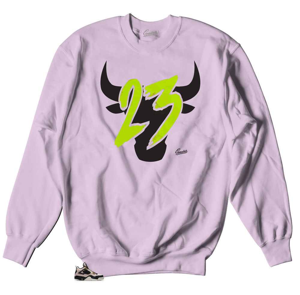 Toro Pink Sweater for Jordan 4 Silt Red