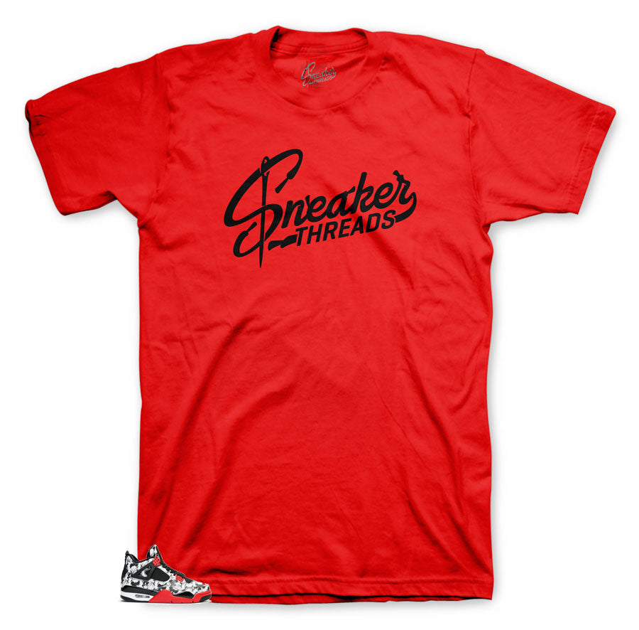 Tee Shirt collection made to match Tattoo Jordan 4 Sneakers