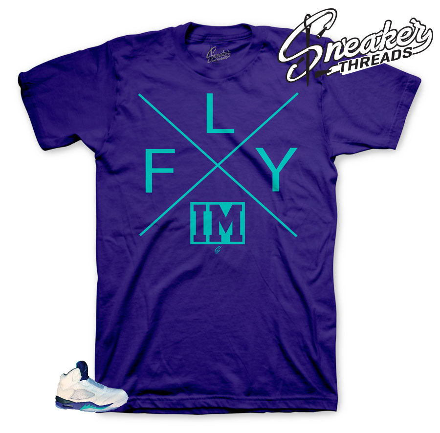 Jordan 5 Grape bel air shirt to look fly