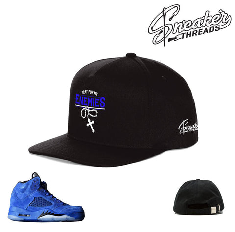 Jordan 5 blue suede hat match retro 5's sneaker hats.