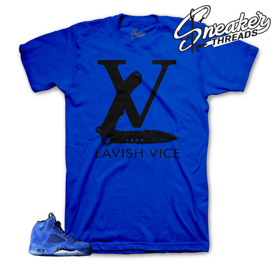Jordan 5 blue suede shirts match | Sneaker threads official tees.