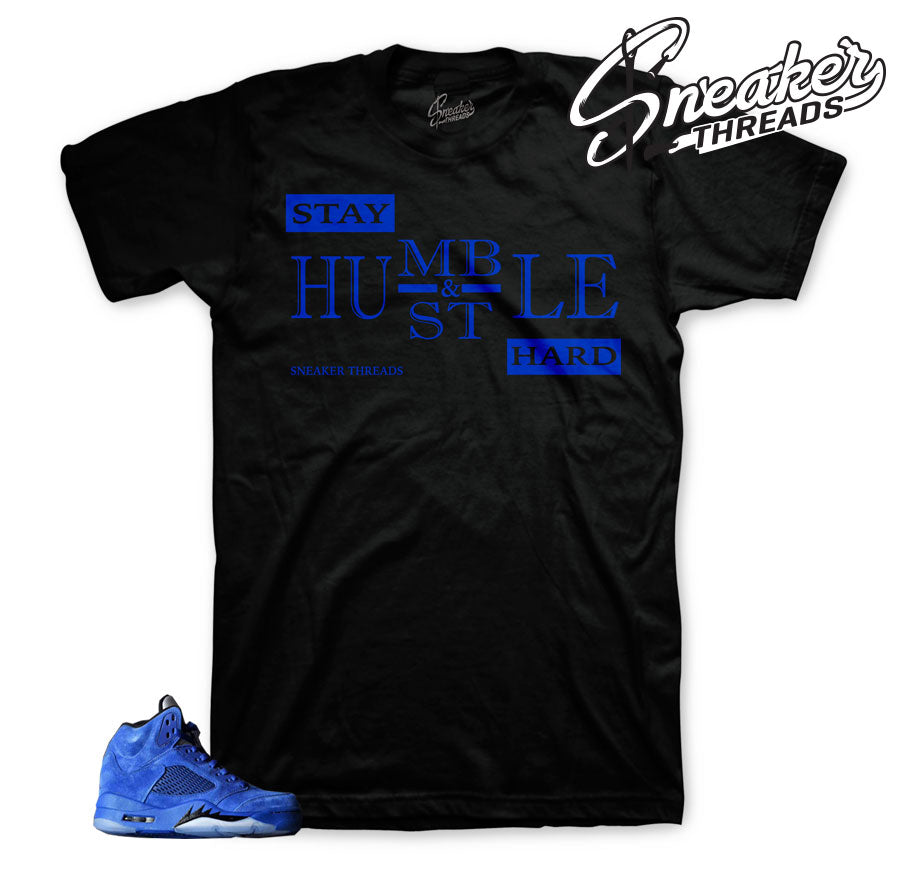 Tees match Jordan 5 | Retro 5 blue suede clothing match shoes.