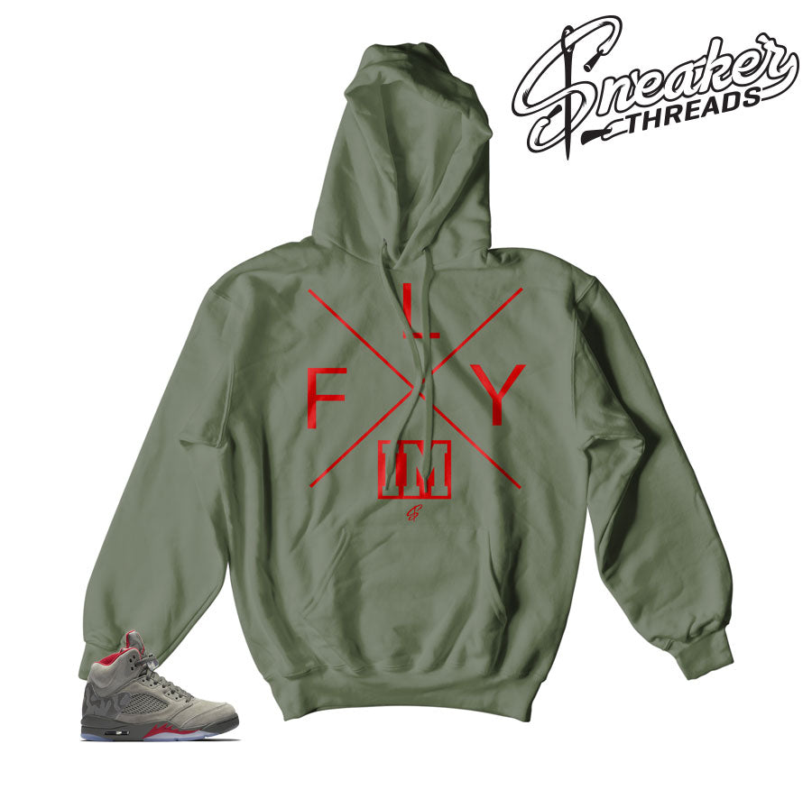 Jordan 5 camo take flight hoodies match retro 5 hoody.