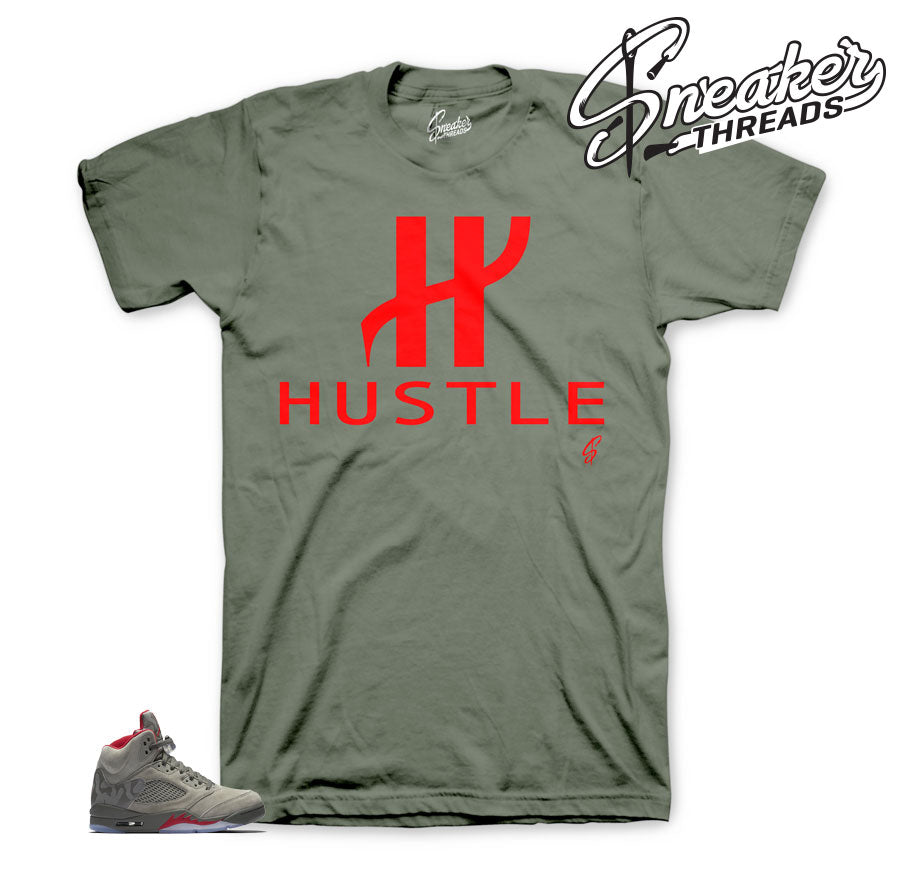 Jordan 5 camo tees match | Official matching sneaker clothing