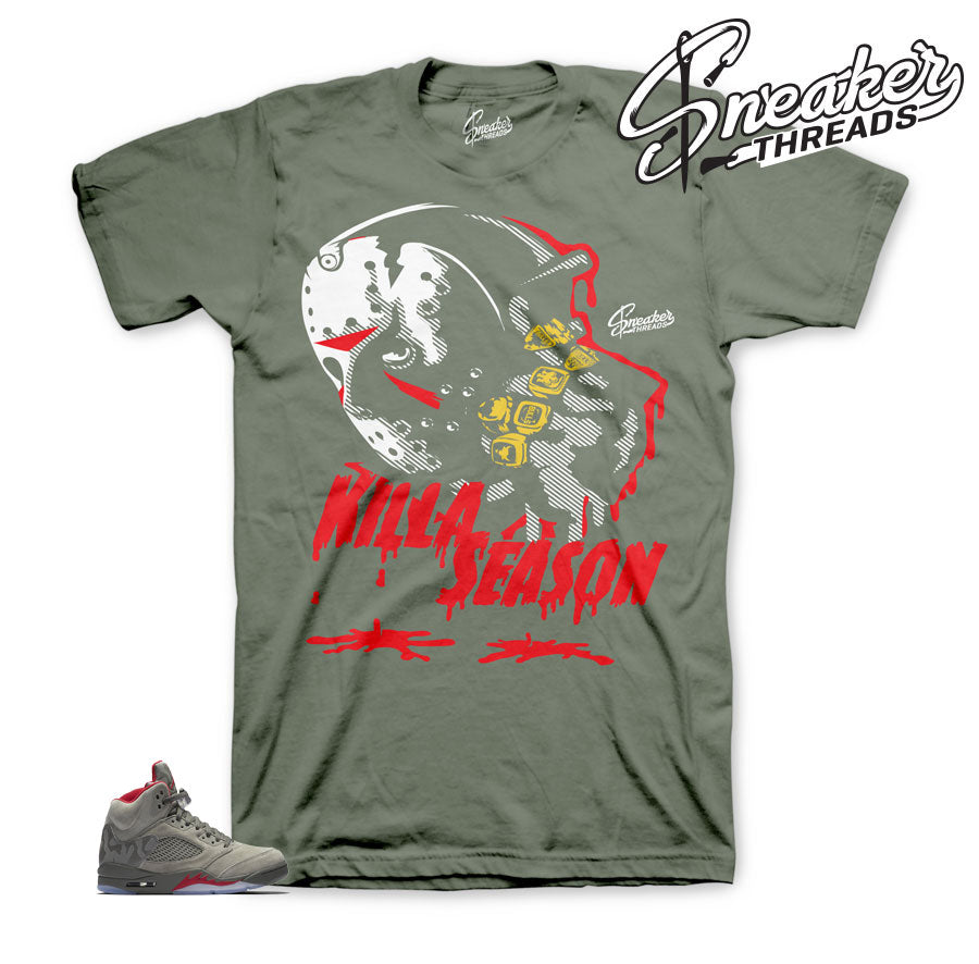 Como Jordan 5 shirts match retro sneaker match shirts.