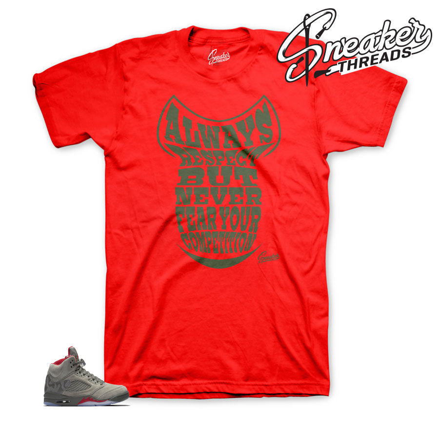 de33968c897c Official matching Jordan 5 camo shirts and sneaker tees.
