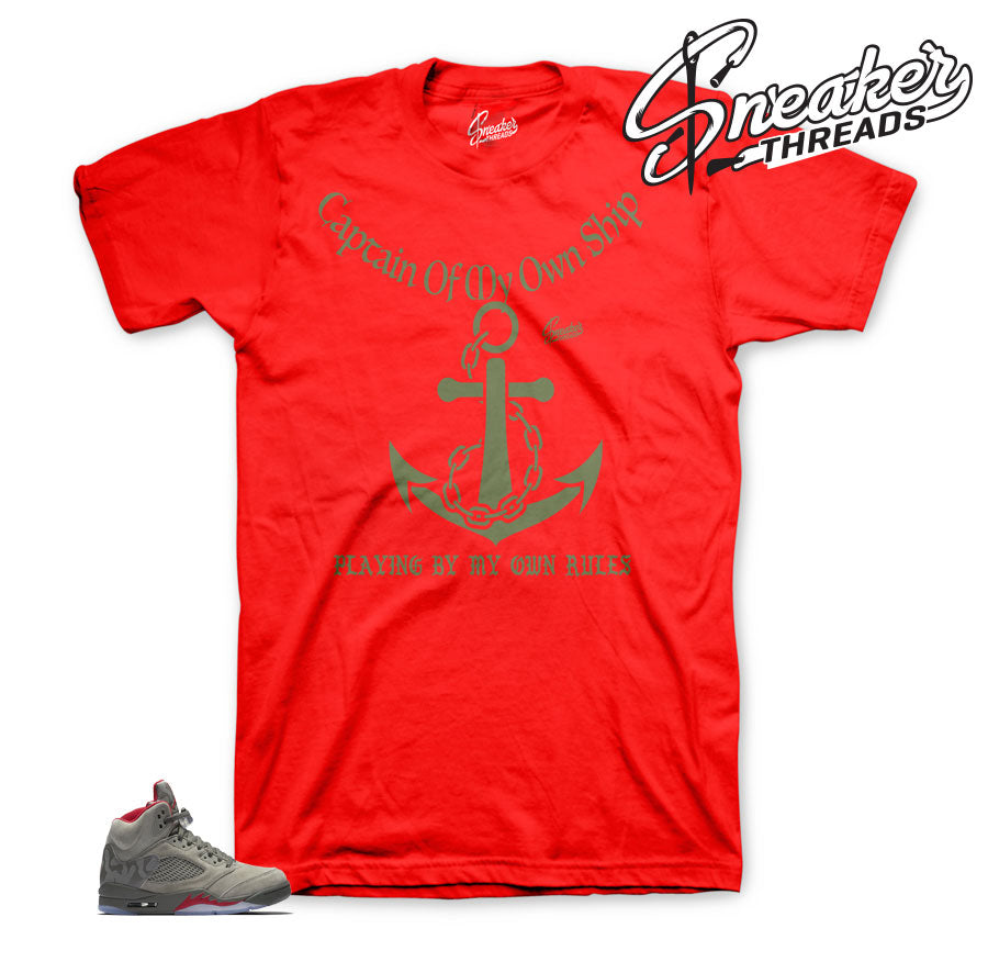 Camo Jordan 5 shirts match | My rules sneaker tee.