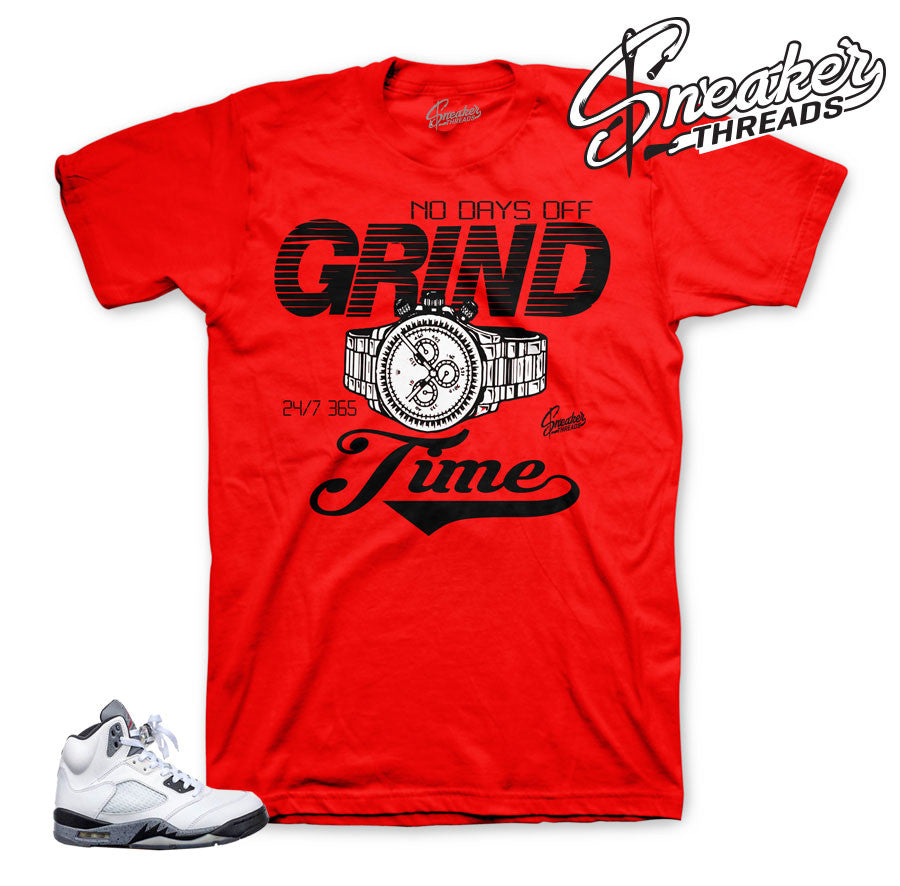 Jordan 5 white cement shirts | Fresh cement 5 sneaker tees.