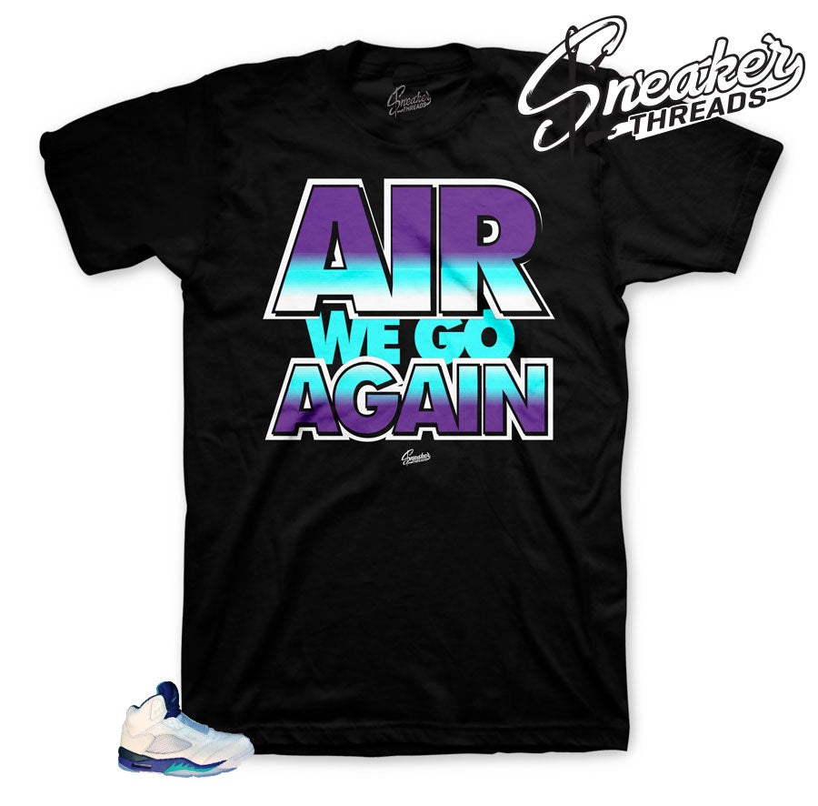 Sneaker tees match Jordan 5 grape fresh prince of bel air retro 5.