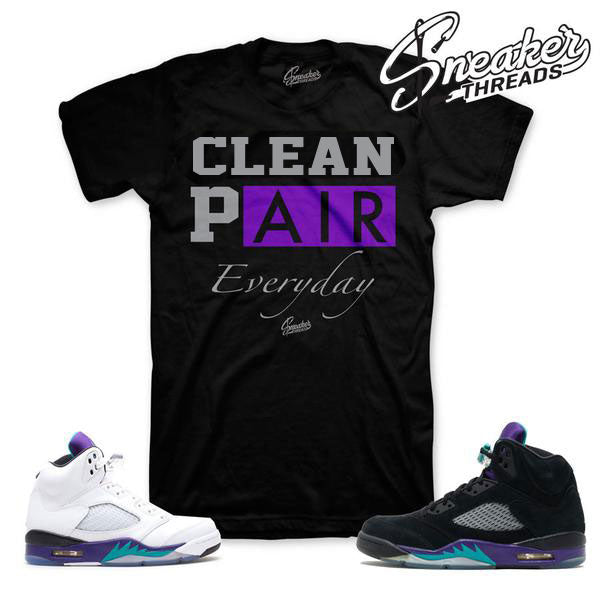ce23c25931b Grape Jordan 5 tee match retro 5 black grapes shoes.