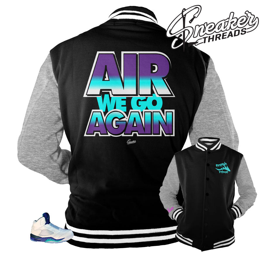 Jordan 5 bel air grape jackets match retro 5 will smith shoes