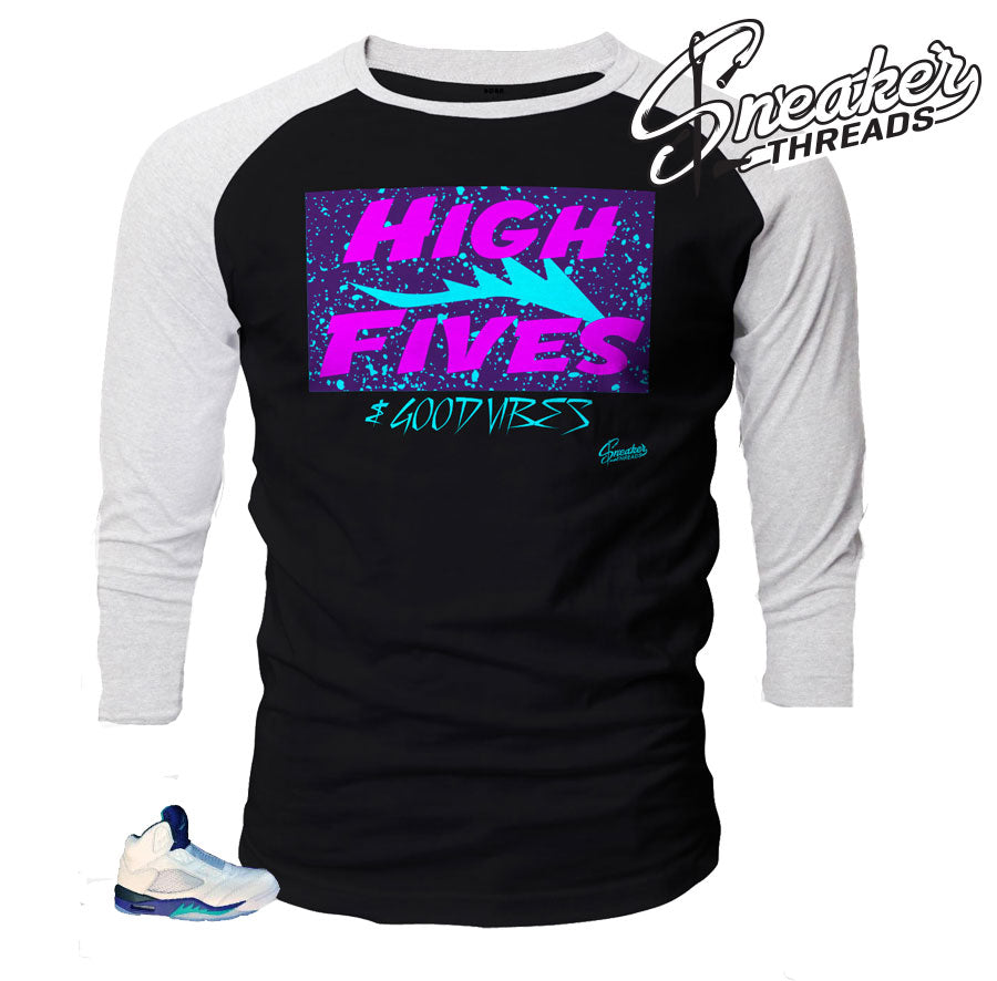 Jordan 5 grape bel air raglan shirt match retro 5 will smith.