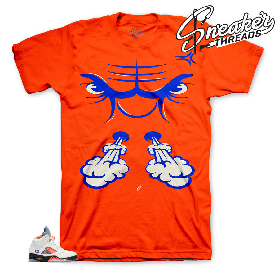 Jordan 5 international flight sneaker tees match barceloa 5.