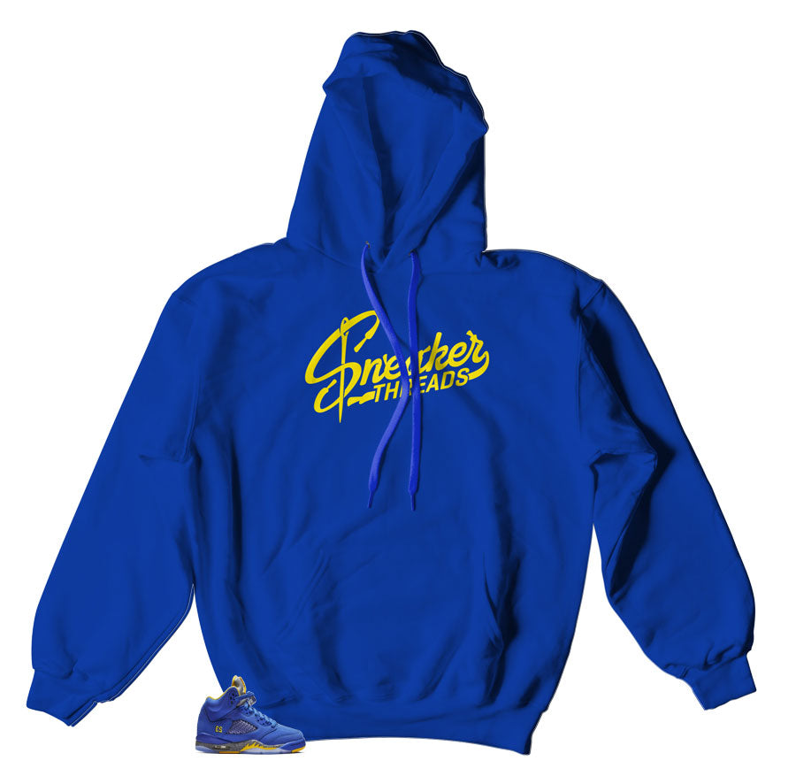 Jordan 5 reverse Laney sneakers matching hoody made to match Jordan retro 5 Laney shoes