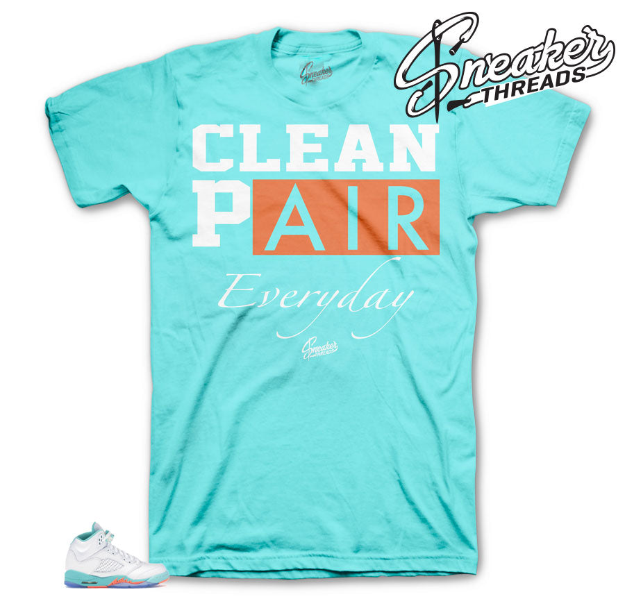 Dope Everyday Shirt to match Jordan 5 Light Aqua