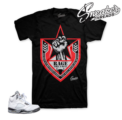 Official clothing to Match Jordan 5 | Cement sneaker shirts.