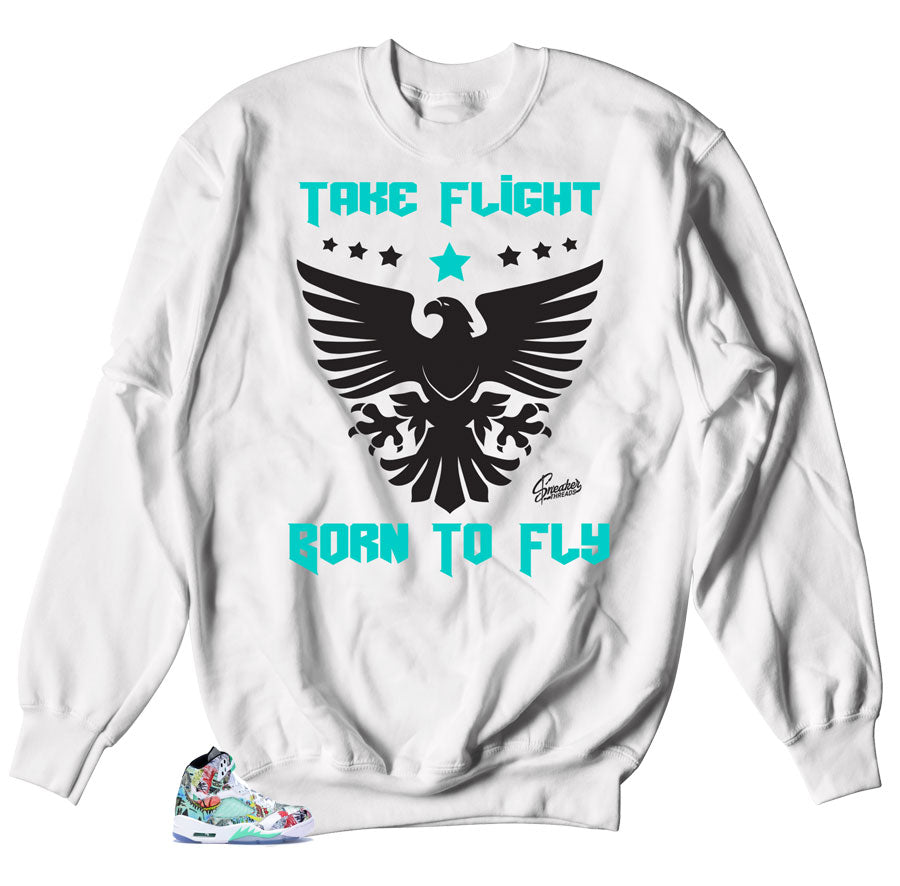 Sweaters to match Jordan 5 Wings