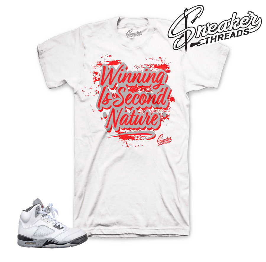 Jordan 5 white cement shirts | sneaker threads cement shirts.
