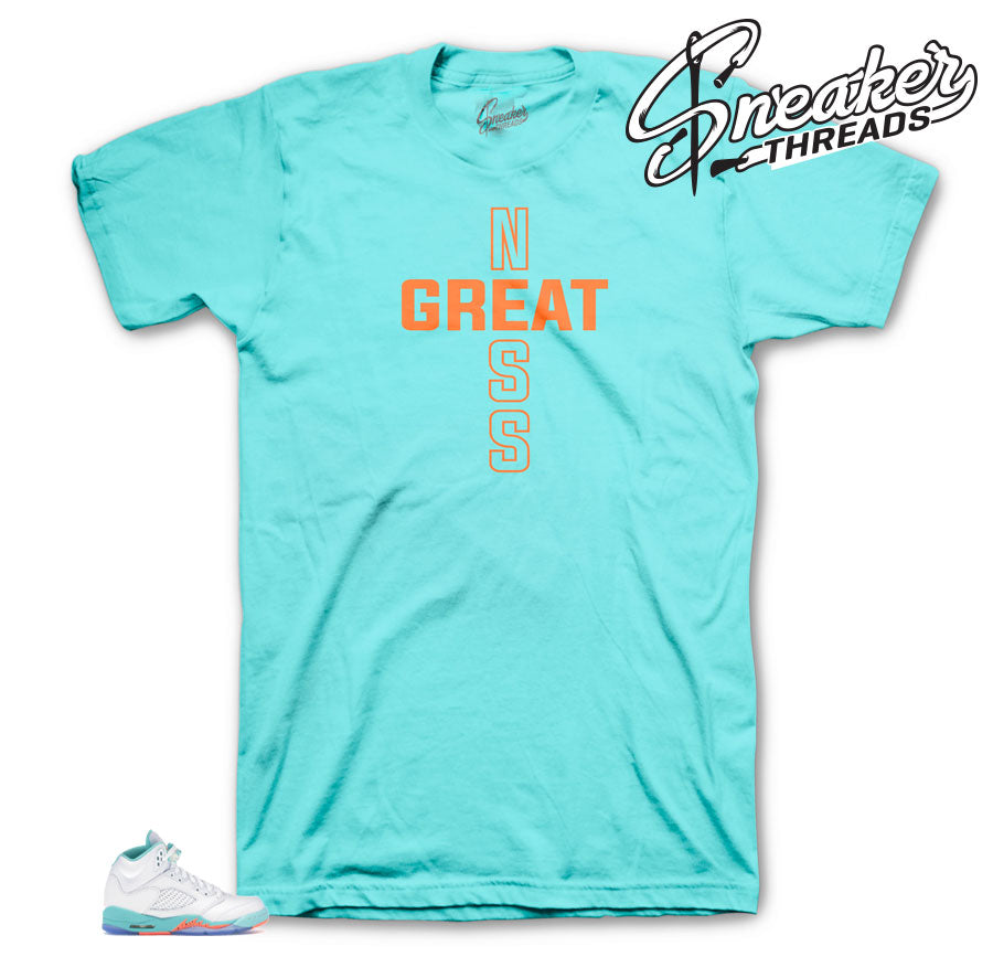 Greatness Cross Shirt for Light Aqua 5's