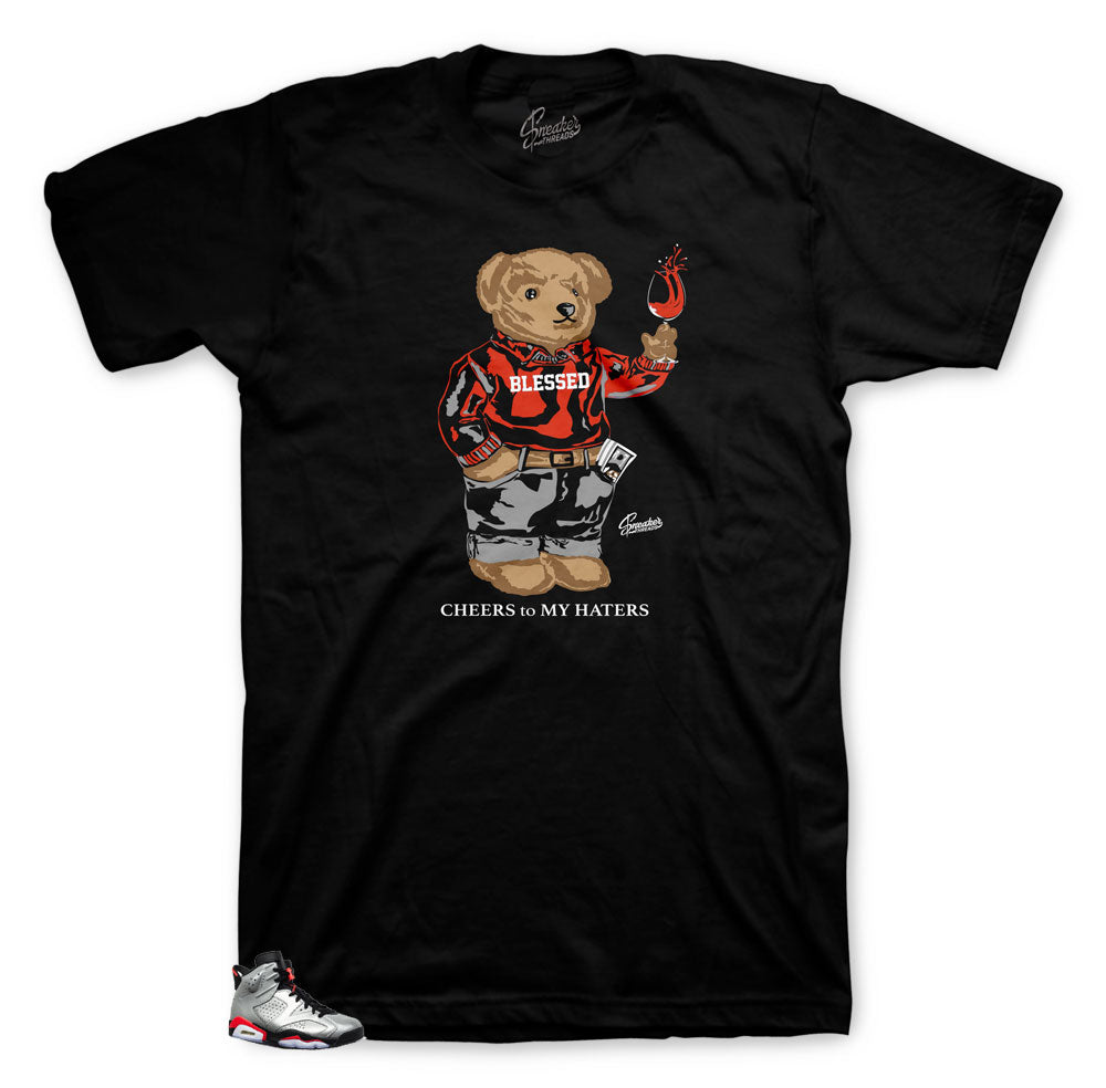 Jordan 6 Reflective Cheers Bear shirt collection to match fit