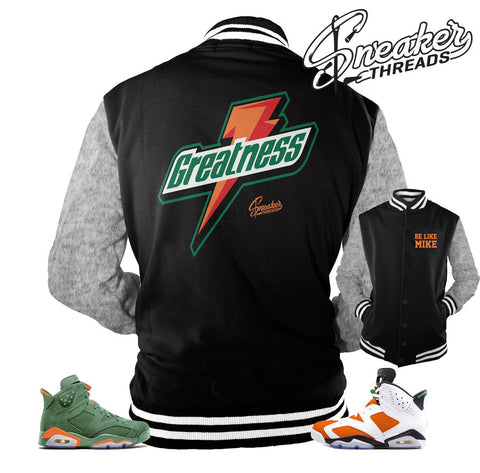 Jordan 6 gatorade jacket match retro 6 be like mike jackets.