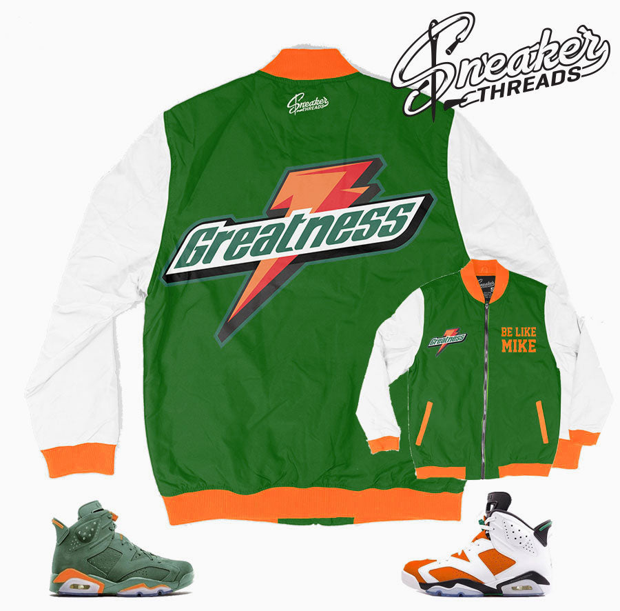 f3651713b92d Jordan 6 gatorade bomber jacket match retro 6 like mike.