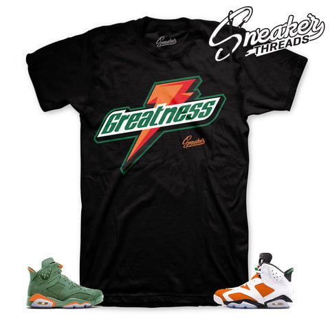Jordan 6 Gatorade Shirt Match Retro 6 Sneaker Tee Shirts