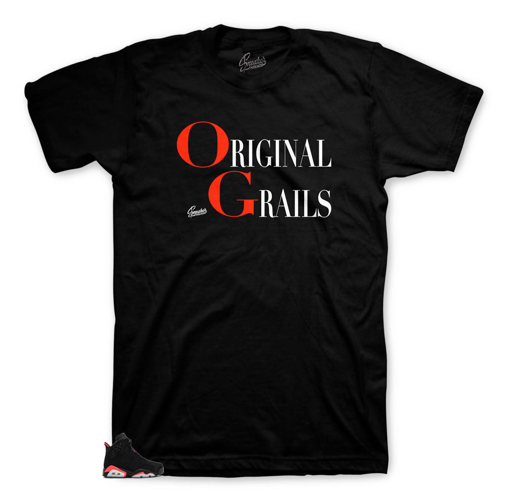 Jordan 6 infrared sneaker tees | The best infrared red shirts match