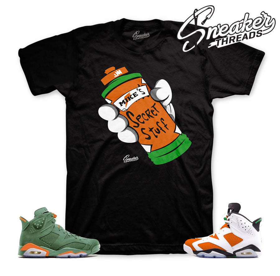 Jordan 6 like mike shirts match retro 6 gatorade inspired.