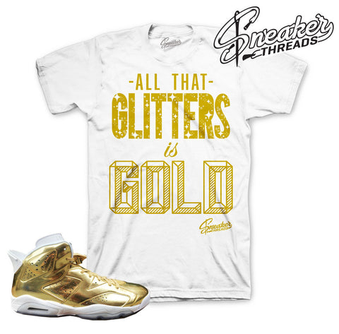 Jordan 6 pinnacle gold tees match retro 6 sneaker shirt.
