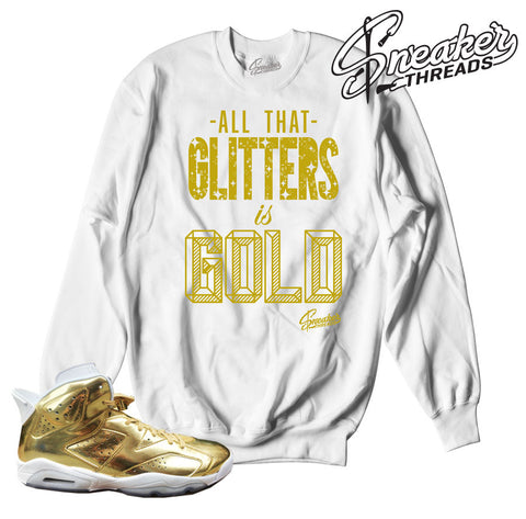 Jordan 6 pinnacle gold sweaters match retro 6 sneaker crews.