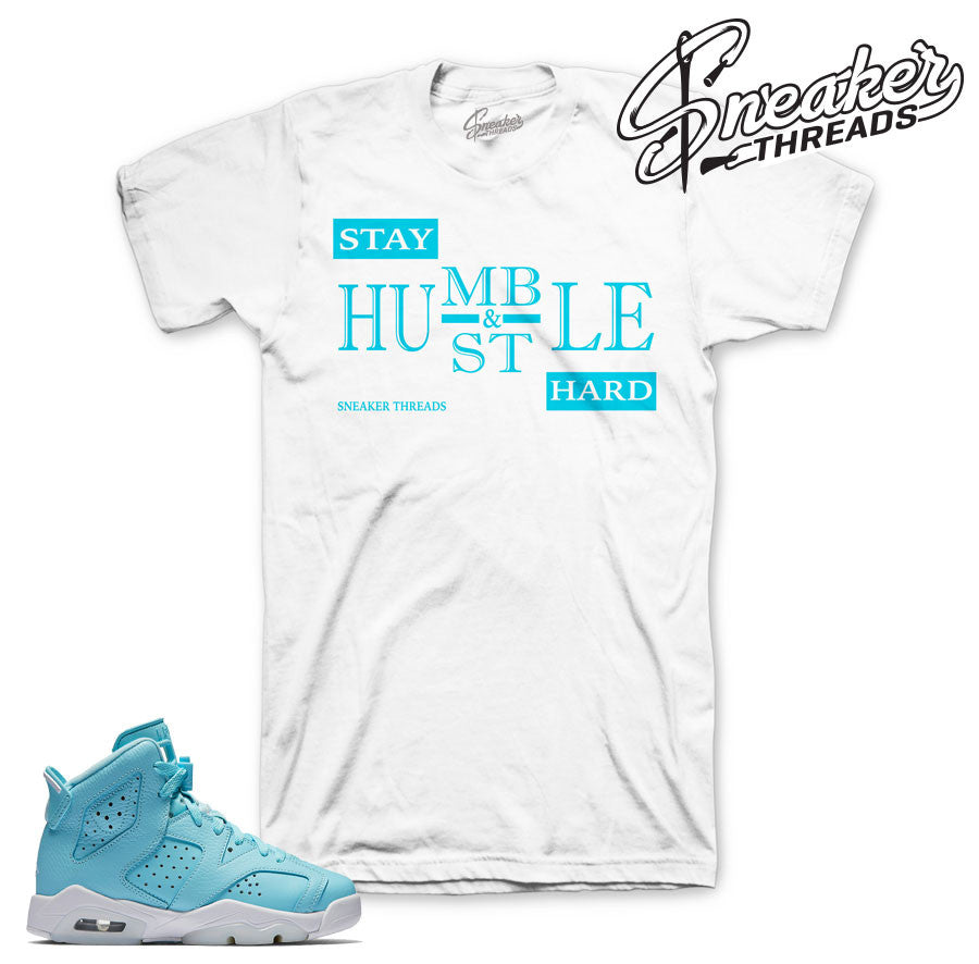 jordan 6 still blue shirts match retro 6 sneakers.