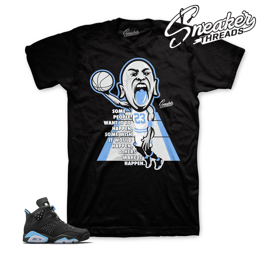 jordan 6 unc shirts match retro 6 university blue