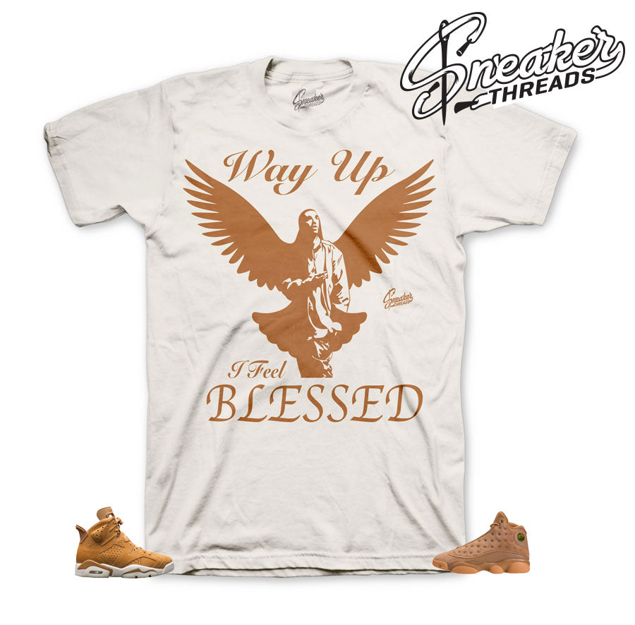 Jordan 6 wheat tees match retro 13 elemental gold retro 1.
