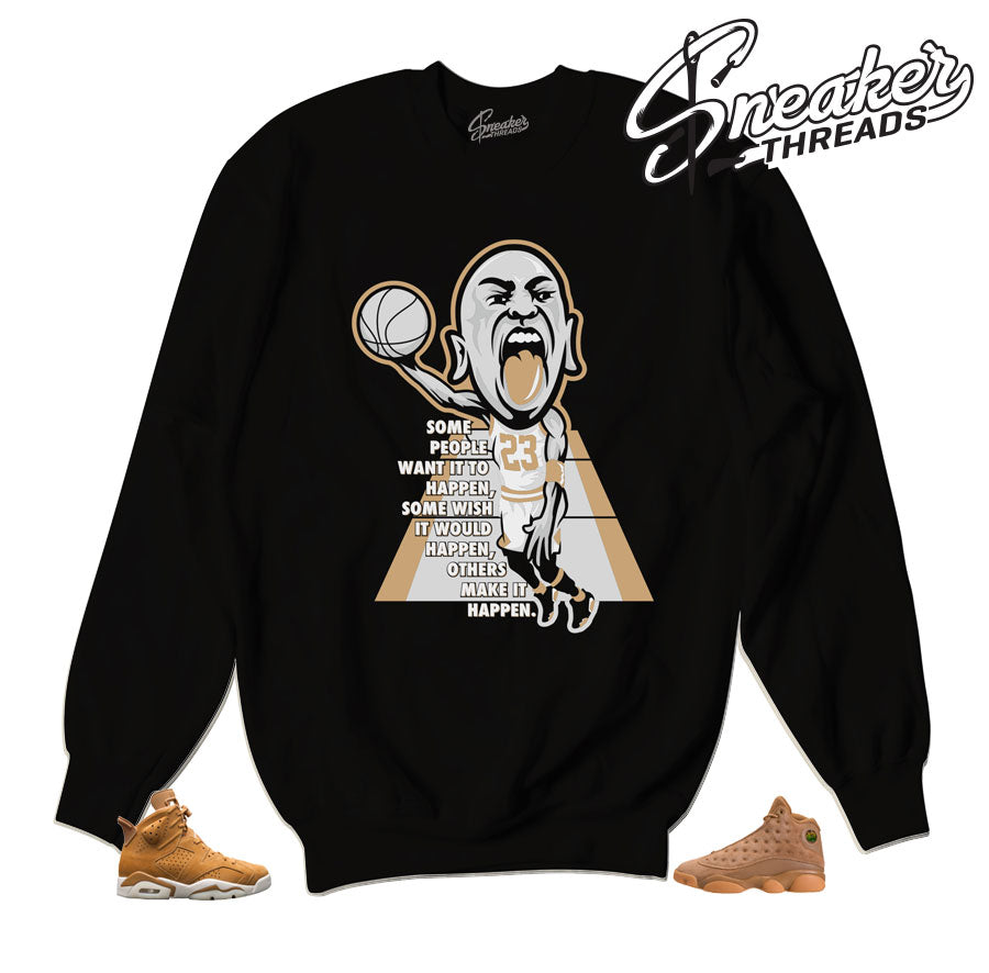 Jordan 6 wheat sweatshirts match retro 13 | Fresh new sweaters.