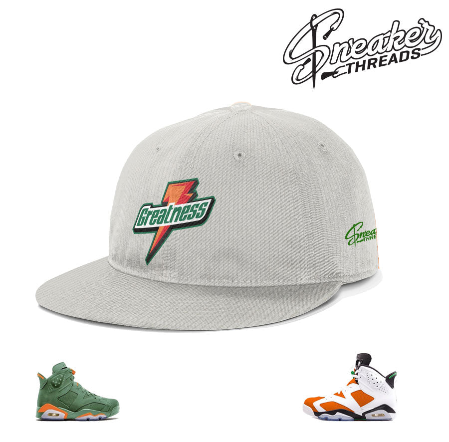 Jordan 6 gatorade dad hat matches shoes  8f251779da7