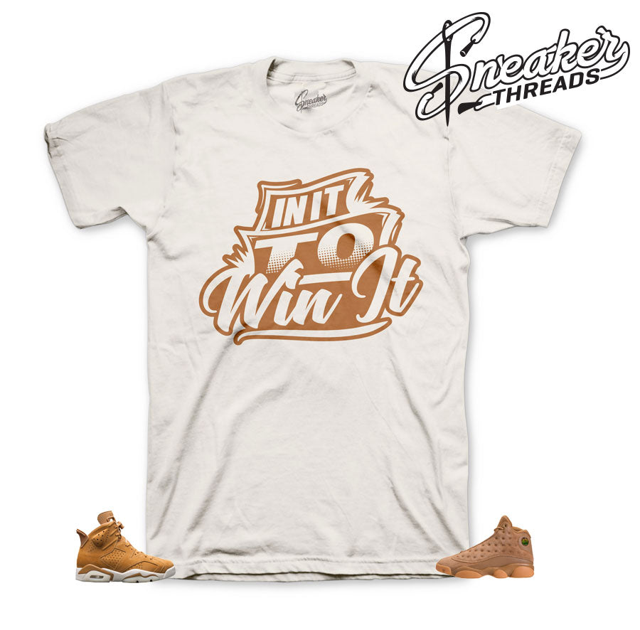 Tees match Jordan 6 wheat retro 13 and 1 golden harvest shirts.