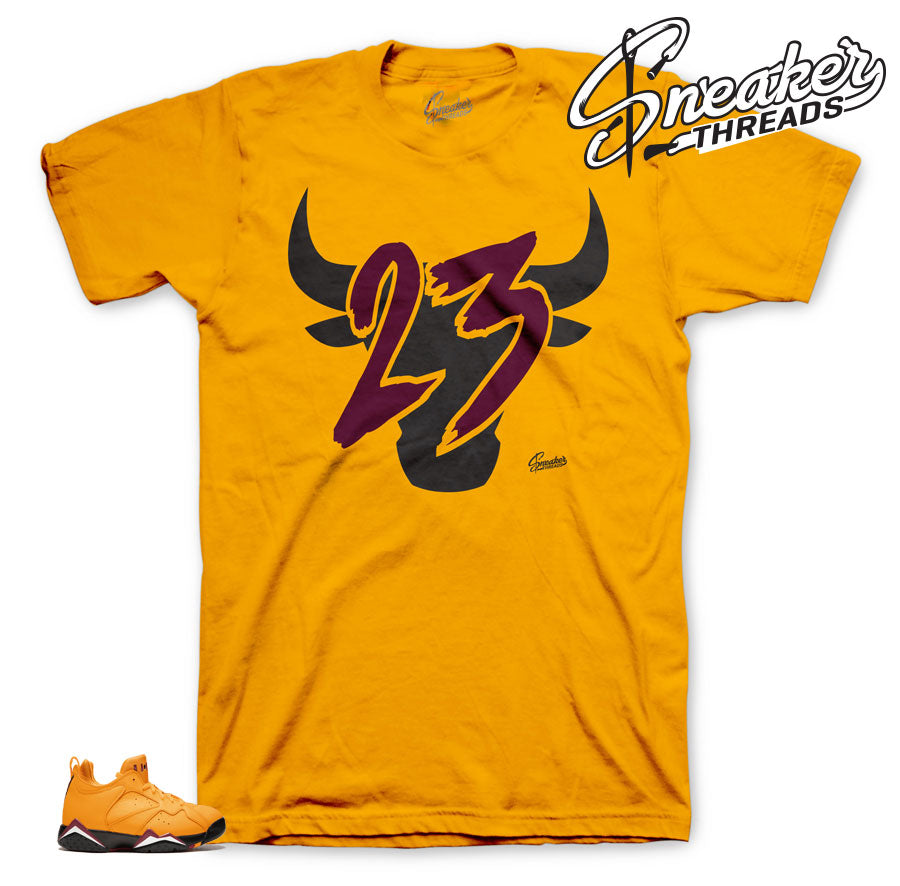 Jordan 7 NRG taxi sneaker tees match retro 7 taxi shoes.