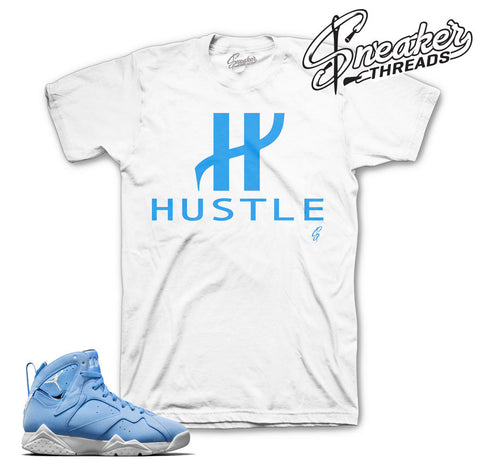 Jordan 7 pantone shirts match retro 7's UNC shirts