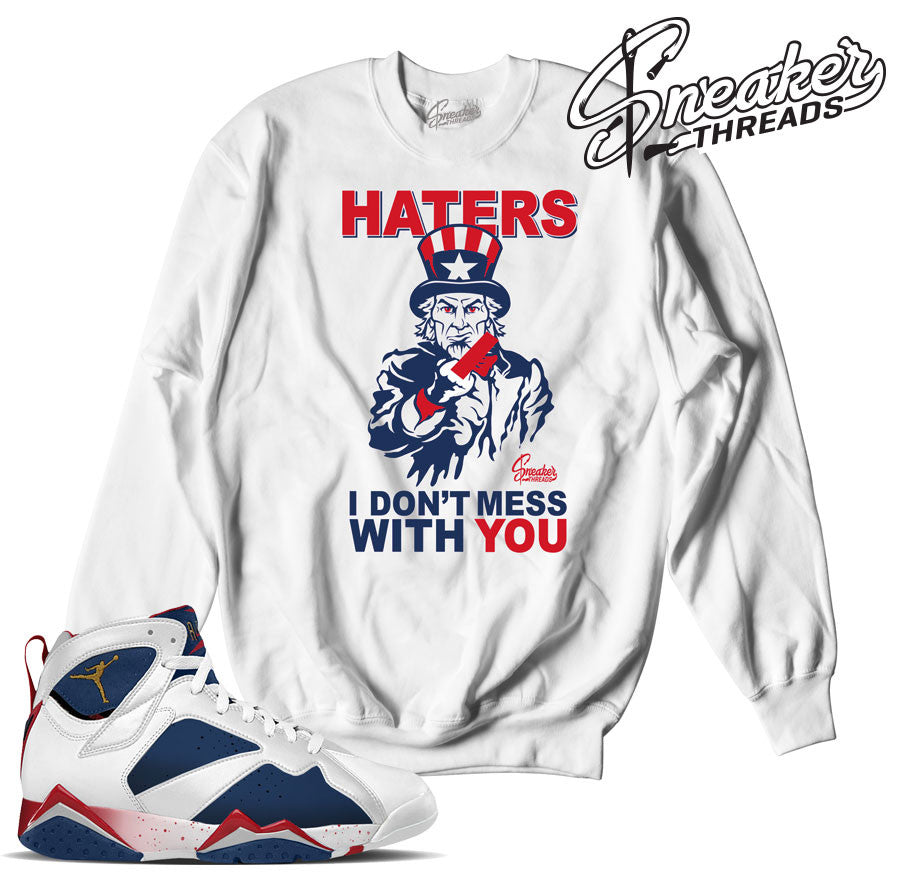 on sale 42f5a 78448 Home Jordan 7 Olympic Sam Knows Sweater. Share