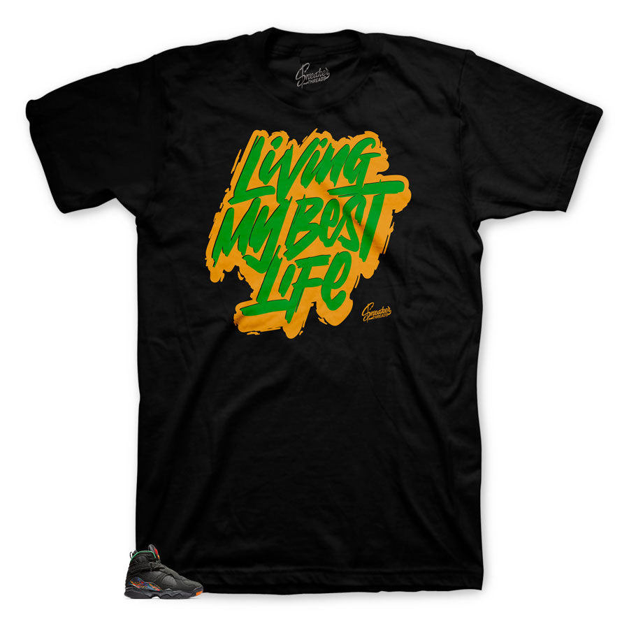 T-shirts customized to match Jordan 8 Air Raid Sneaker collection that matches shirts