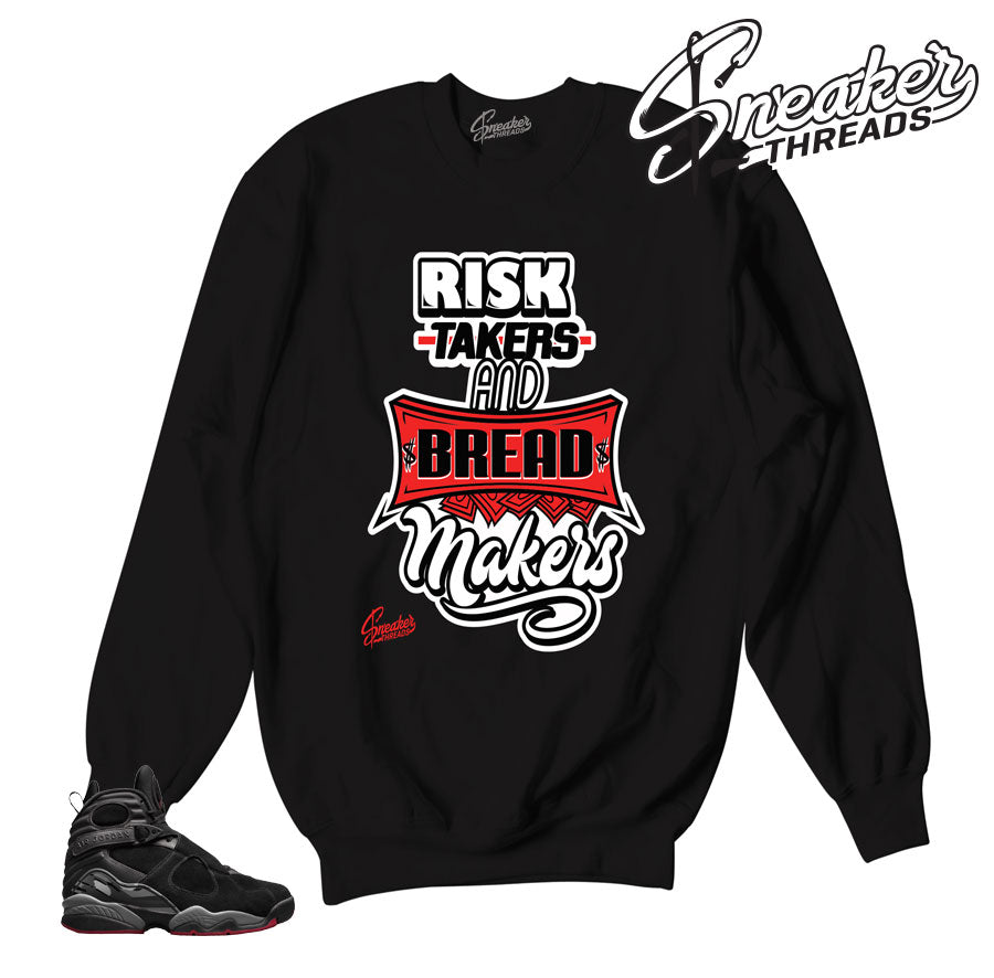 Jordan 8 Cement Risk Takers Sweater