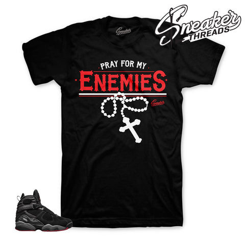 Bred jordan 8 clothing | Sneaker match shirts and tees.