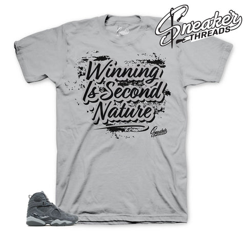 Cool grey jordan 8 sneaker match shirts and tees.
