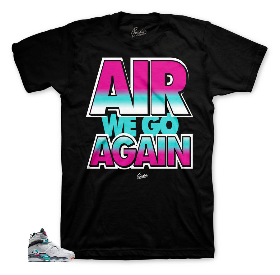 Jordan 8 South Beach sneaker tees match retro 8 turbo green